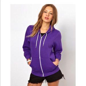 American apparel purple sweatshirt